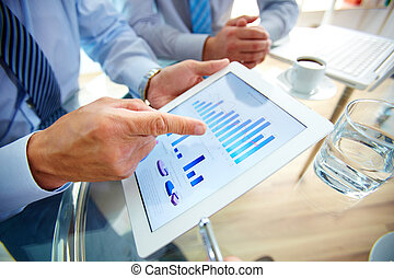 Contemporary business - Modern people doing business, graphs...