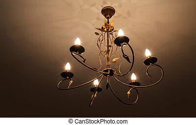 contemporary chandelier, is a branched ornamental light fixture designed to be mounted on ceilings or walls. vintage chandelier. home interior