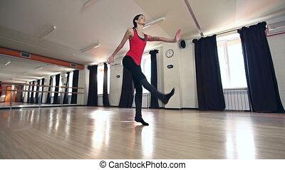 Contemporary Choreography - Young choreographer making up...