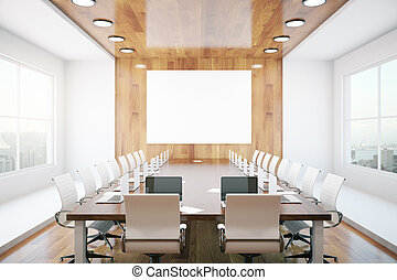 Contemporary conference room - Contemporary conference...