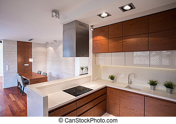 Contemporary decorated kitchen