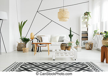 Contemporary design of lounge