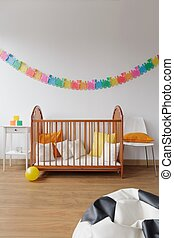 Contemporary design spacious baby room