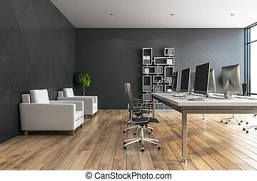 Contemporary designer desktop