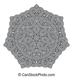 Contemporary doily round lace floral pattern card, circle,...