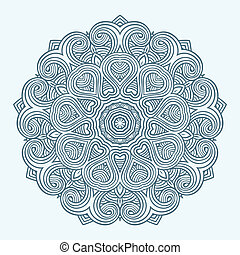 Contemporary doily round lace floral pattern