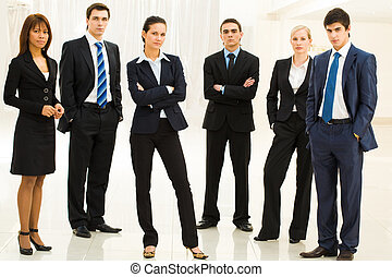 Contemporary employees - Portrait of confident well-dressed...