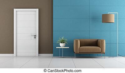 Contemporary home entrance