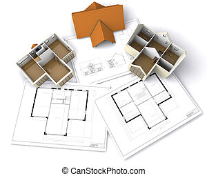Contemporary house on floor plans