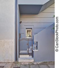 house door, Athens Greece - contemporary house door, Athens...