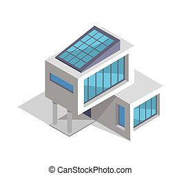 Contemporary House Layout, Vector Illustration