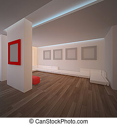 Contemporary interior. No copyrights, my design project