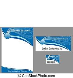 contemporary letterhead - contemporary business template 1