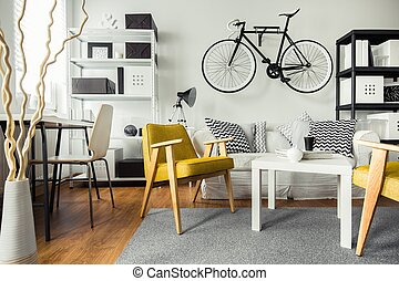 Contemporary living room for hipster