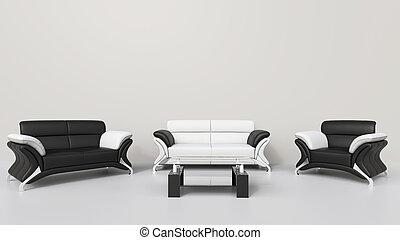 Contemporary Living Room White