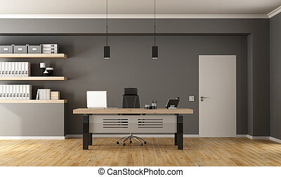 Contemporary office room - Contemporary office with ...
