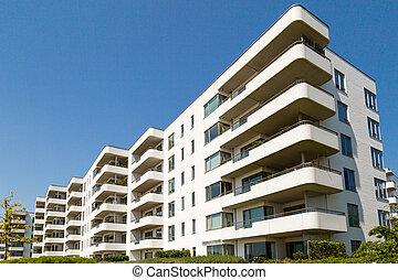 Condominium on a sunny summer day in Hellerup, a suburb of Copenhagen, Denmark.