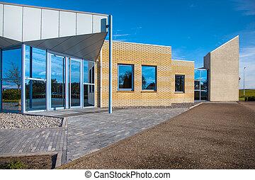 Contemporary Small Commercial Property - Facade of a Modern...