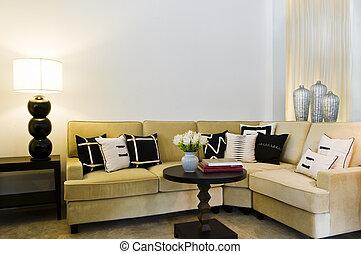 Contemporary sofa seating area