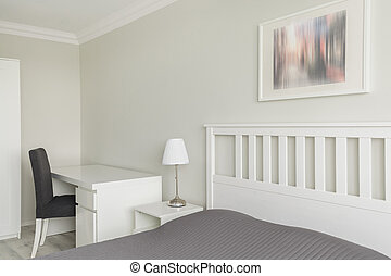 Contemporary white and gray interior - Picture of...