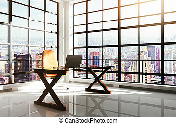 Contemporary workplace in a loft interior