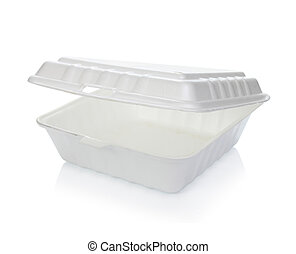 contenedor alimento, styrofoam