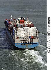 contenedor, buquede carga
