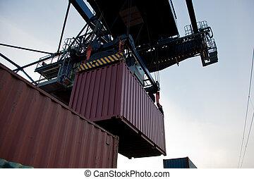 contenedor, carga