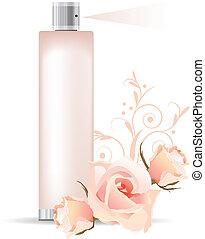 contenedor, perfume