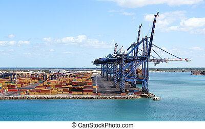 contenedor, puerto