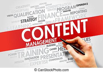 contenido, dirección