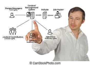 contenido, dirección, sistema
