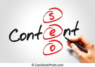 contenido, seo