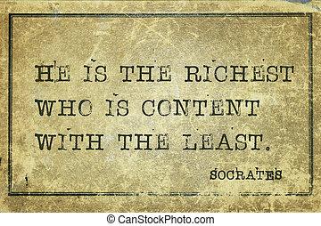 contenido, socrates