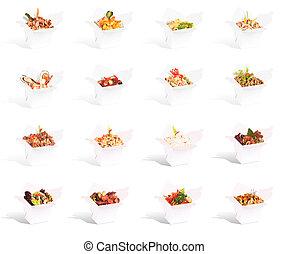 contenitore cibo, collezione, cinese