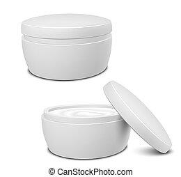 contenitore, crema