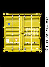 contenitore, giallo