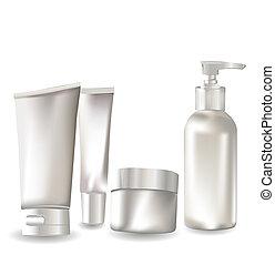 contenitore, set, cosmetico