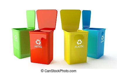 contenitori riciclare
