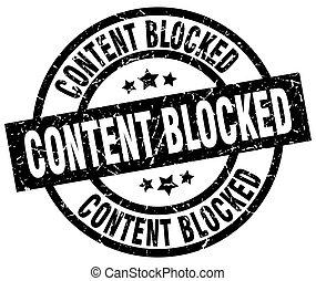 content blocked round grunge black stamp