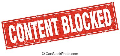 content blocked square stamp