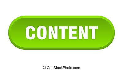 content button. content rounded green sign. content