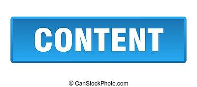 content button. content square blue push button