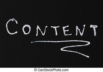 Content conception text