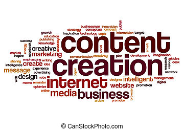 Content creation word cloud