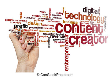 Content creator word cloud concept