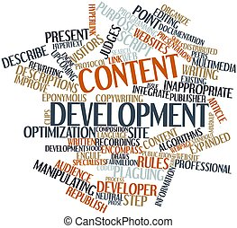 Content development - Abstract word cloud for Content...