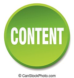 content green round flat isolated push button