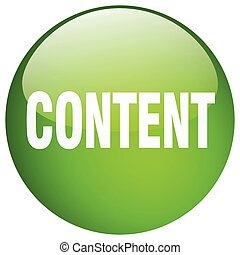 content green round gel isolated push button