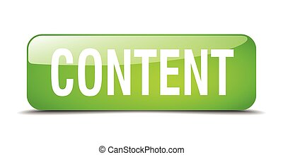 content green square 3d realistic isolated web button